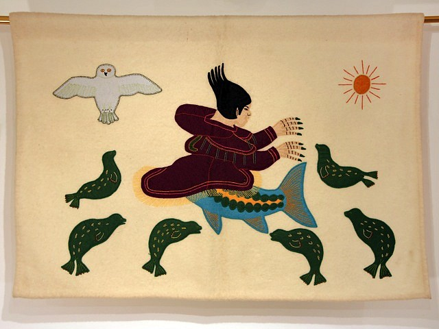 Inuit Anonymous, Sedna and her creatures Duffle cloth