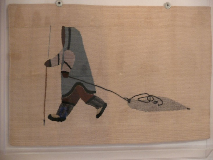 Elisapee Ashulutak, Hunter with seal Tapestry
