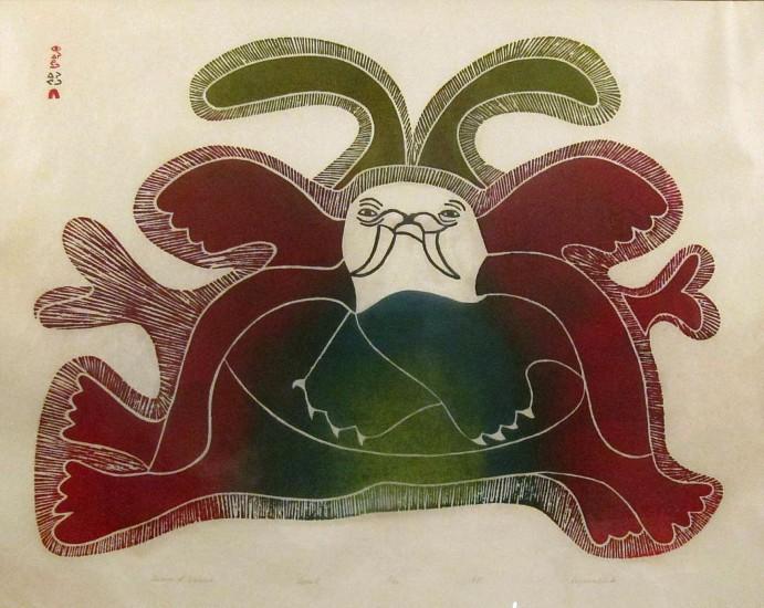 Eegyvudluk Ragee, Dream of walrus, 1972/40, 18/50 1971, Stonecut