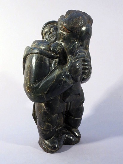 Davidee Saumik, Mother chewing on a kamik with child in her amaut c. 1960, Serpentine