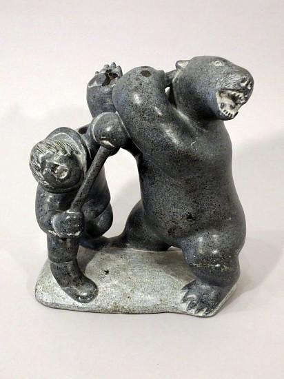 Joanassi Jack Itukalla, Hunter attacking bear with harpoon Stone