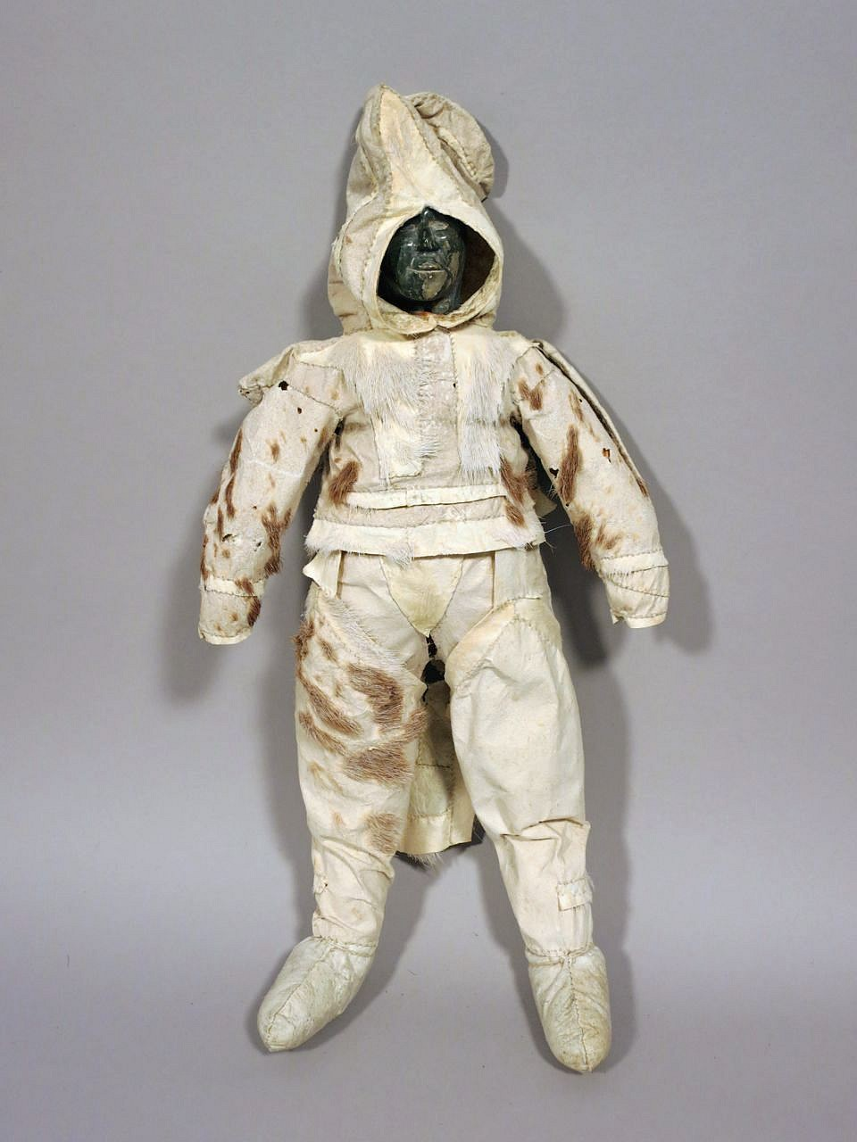 inuit anonymous coppermine inuit doll with caribou skin clothing