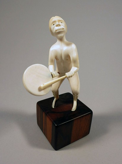 Greenland Anonymous, Drum dancer c. 1960-1969, ivory