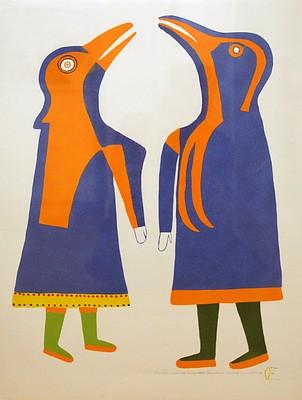 Jessie Oonark, Angakok conjuring birds, 33/44 1979, Stencil