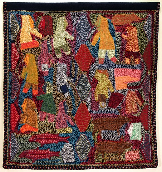 Annie Taipanak, Visiting the past Duffle cloth, embroidery