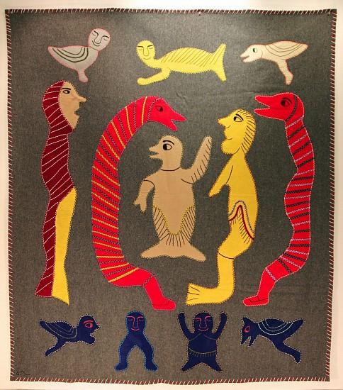 Irene Avaalaaqiaq Tiktaalaaq, Spirits stroud, felt and embroidery floss