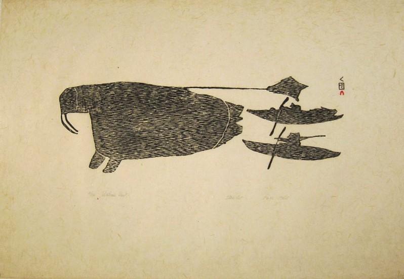 Parr, Walrus hunt, 10/50, 1964/59 1964, Stonecut