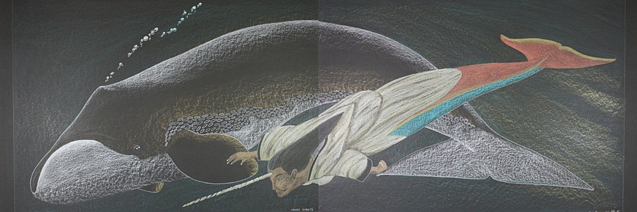 Tim Pitsiulak, Sedna's Giants (diptych) 2012, Graphite and colored pencil