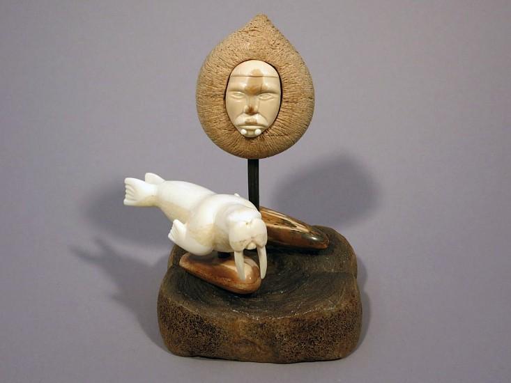 Isaac Kulowiyi, Shaman and Walrus 2013, Ivory and whalebone