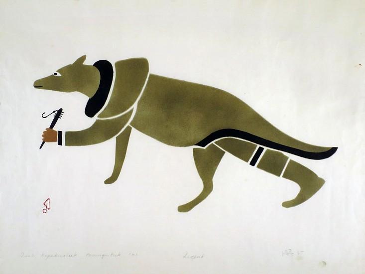 Isah Koperqualuk, Legend, 23/25 1961, Stencil